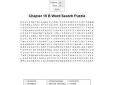 Chapter 19 B Word Search Puzzle Worksheet