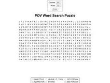 POV Word Search Worksheet