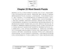 Chapter 23 Word Search Puzzle Worksheet