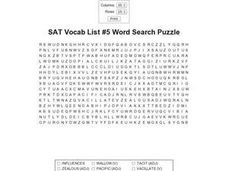 SAT Vocab List 5 Worksheet