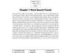Chapter 1 Word Search Worksheet