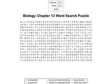 Biology Chapter 13 Word Search Puzzle Worksheet