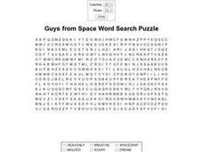 Guys From Space Word Search Puzzle Worksheet