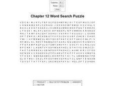 Chapter 12 Word Search Puzzle Worksheet