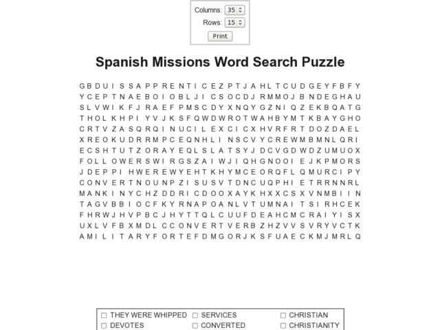 spanish missions word search puzzle worksheet for 9th 10th grade lesson planet. Black Bedroom Furniture Sets. Home Design Ideas