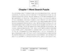 Chapter 1 Word Search Puzzle Worksheet