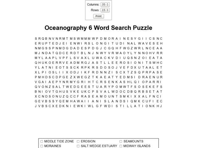 Oceanography 6 9th 10th Grade Worksheet – Oceanography Worksheets
