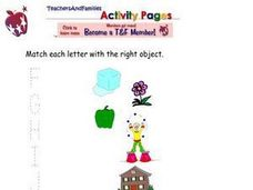 Match Letters with Pictures Worksheet
