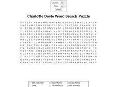 Charlotte Doyle Word Search Puzzle Worksheet