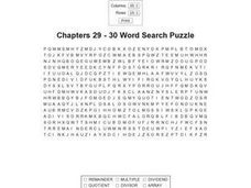 Chapters 29-30 Word Search Worksheet