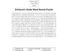 Erickson's Vocabulary Words Worksheet