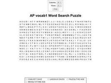 AP Vocab1 Word Search Worksheet