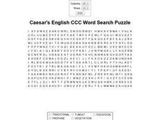 Caesar's English CCC Word Search II Worksheet