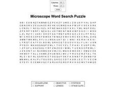 Microscope Word Search Worksheet
