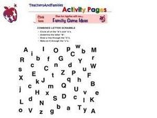 Combined Letter Scramble Worksheet