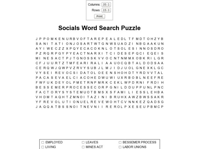 Socials Word Search Puzzle Worksheet