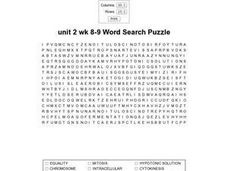 Unit 2 Wk 8-9 Word Search Puzzle Worksheet