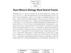 Ryan Moran's Biology Word Search Puzzle Worksheet