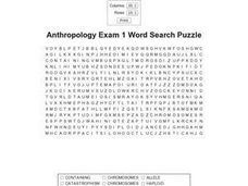 Anthropology Exam 1 Worksheet