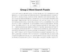 Group 2 Word Search Puzzle Worksheet