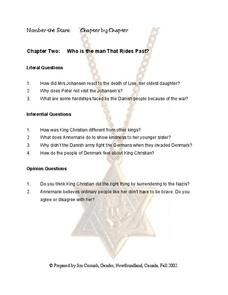 Number the Stars Chapter 2 Worksheet