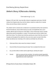 Post Reading Activity: Chapter Seven Worksheet