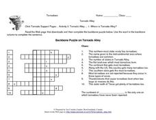 Where is Tornado Alley? Internet Research and Crossword Lesson Plan