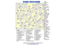 Easter Crossword-- Religious References Worksheet
