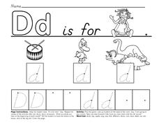 Writing Letter Dd Worksheet