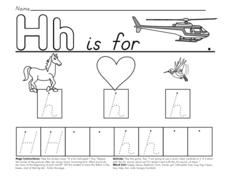 Hh is for Helicopter Worksheet