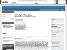 Civil Rights Video Essay Lesson Plan