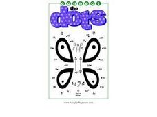 Dot to Dot Butterfly Worksheet