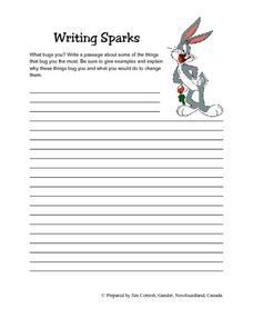 Writing Sparks- What Bugs You? Lesson Plan