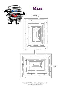 Squiggly's Maze: 2 Worksheet