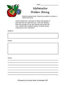 Problem Solving: Shells Worksheet