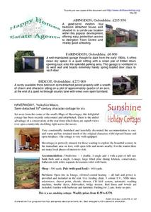 Happy Homes Estate Agents Worksheet