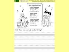 Every Day is Earth Day Worksheet