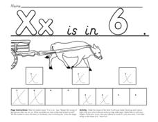 X is in Six Worksheet