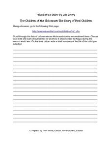 The Children of The Holocaust Lesson Plan