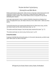 Painting Pictures With Words Worksheet