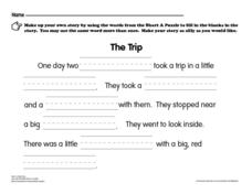 "Short ""A"" Puzzle Book Worksheet"
