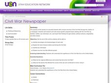 Civil War Newspaper Lesson Plan