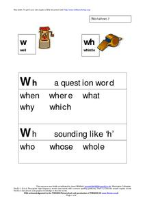 Phonics Blend Worksheet