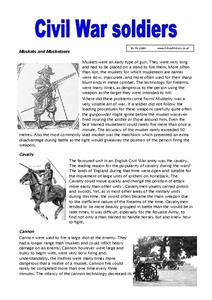 Civil War Soldiers Worksheet