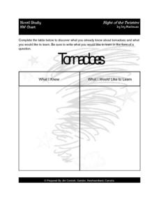 Night of the Twisters KW Chart Lesson Plan