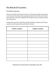 The Historical Connection Worksheet