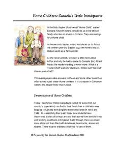 Home Child History Worksheet