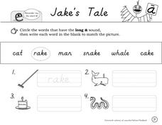 Jake's Tale: Worksheet Packet Worksheet