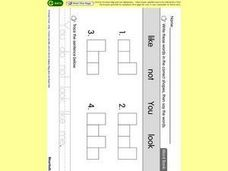 Fitting Words into Shape Grids Worksheet
