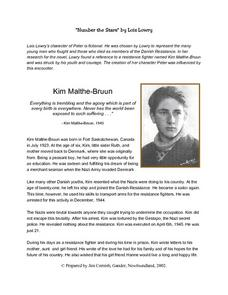 Number the Stars Historical Background: Kim Malthe-Bruun Lesson Plan